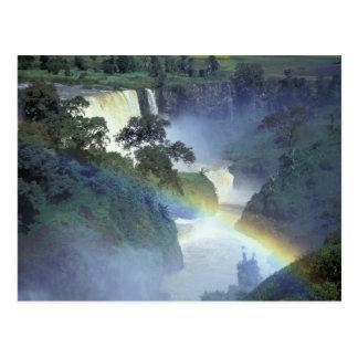 África, Etiopía, el río Nilo azul, catarata Postal