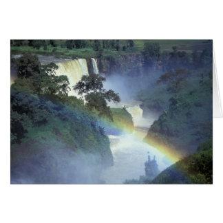 África, Etiopía, el río Nilo azul, catarata Tarjeta De Felicitación