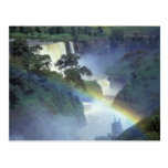 África, Etiopía, el río Nilo azul, catarata Tarjeta Postal