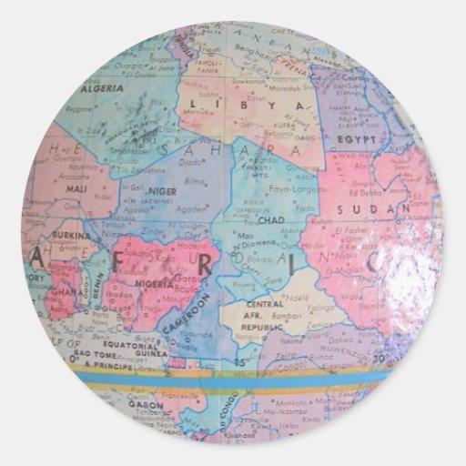 África Etiquetas Redondas