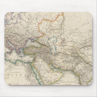 Africa, Europe and western Asia Atlas Map Mouse Pad