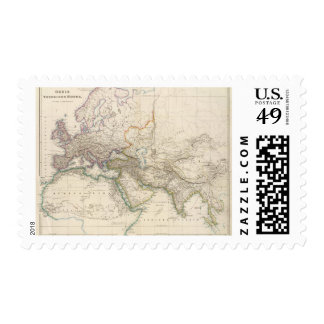 Africa, Europe and western Asia Atlas Map Postage