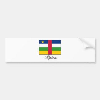 Africa Flag Design Bumper Sticker