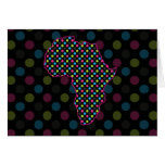 Africa Florescent Polkas Card