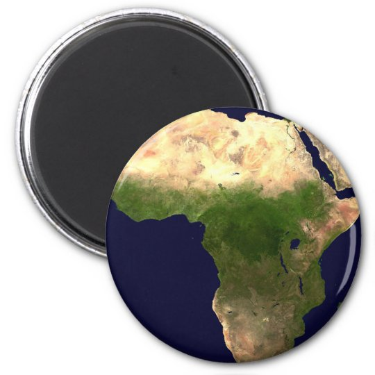 Africa From Space Magnet