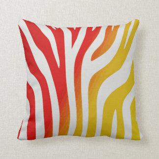 Africa Fun Red and Yellow Zebra Stripe Pillow