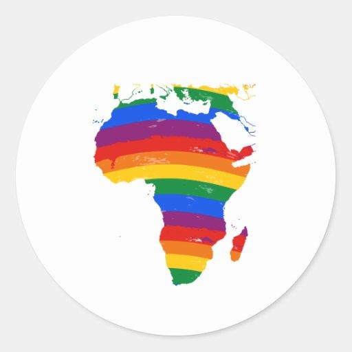 AFRICA GAY PRIDE CLASSIC ROUND STICKER