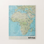"""Africa Geography Map: A Jigsaw Puzzle<br><div class=""""desc"""">Enjoy this fun and educational tour of African geography. Africa is the world&#39;s second-largest and second-most-populous continent. This map illustrates about 11.7 million square miles, including adjacent islands, that covers six percent of Earth&#39;s total surface area and 20.4 percent of its total land area. The continent is surrounded by the...</div>"""