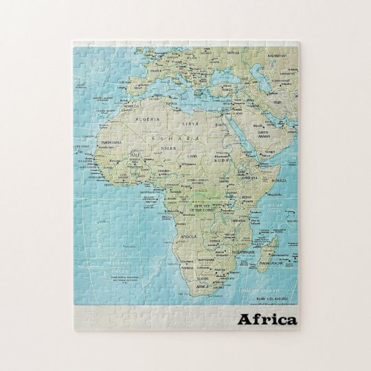 Map Of Africa Geography.Africa Geography Map A Jigsaw Puzzle