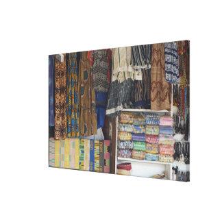 Africa, Ghana, Accra. Accra Textile & Handicraft Canvas Print