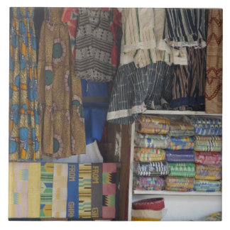 Africa, Ghana, Accra. Accra Textile & Handicraft Large Square Tile