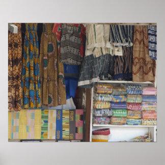 Africa, Ghana, Accra. Accra Textile & Handicraft Poster