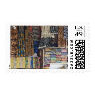 África, Ghana, Accra. Materia textil y artesanía Sellos