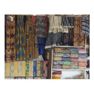 África, Ghana, Accra. Materia textil y artesanía Postal