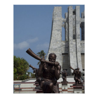 África, Ghana, Accra. Mausoleo de Nkrumah, final 2 Poster