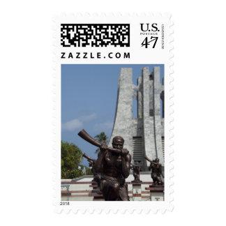 África, Ghana, Accra. Mausoleo de Nkrumah, final 2 Sello Postal