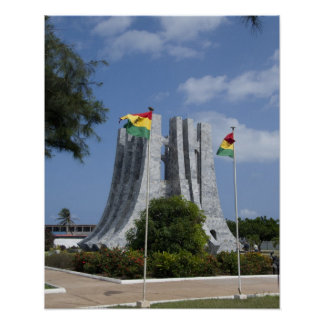 África, Ghana, Accra. Mausoleo de Nkrumah, final 3 Poster