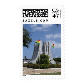 África, Ghana, Accra. Mausoleo de Nkrumah, final 3 Sellos