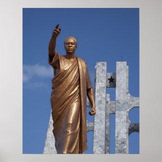 África, Ghana, Accra. Mausoleo de Nkrumah, final Poster