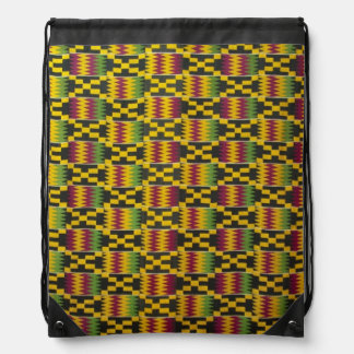 Africa, Ghana, Accra. National Museum, regarded 2 Drawstring Bags