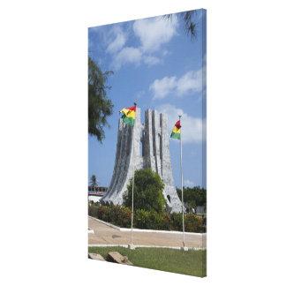 Africa, Ghana, Accra. Nkrumah Mausoleum, final 3 Canvas Print