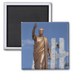 Africa, Ghana, Accra. Nkrumah Mausoleum, final 2 Inch Square Magnet