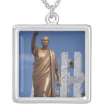 Africa, Ghana, Accra. Nkrumah Mausoleum, final Square Pendant Necklace