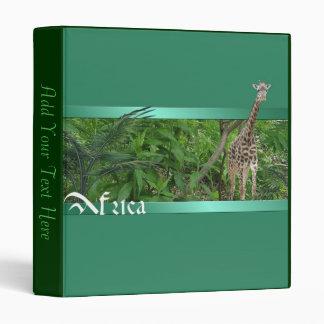Africa Giraffe Binder