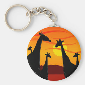 Africa-Giraffes Keychain