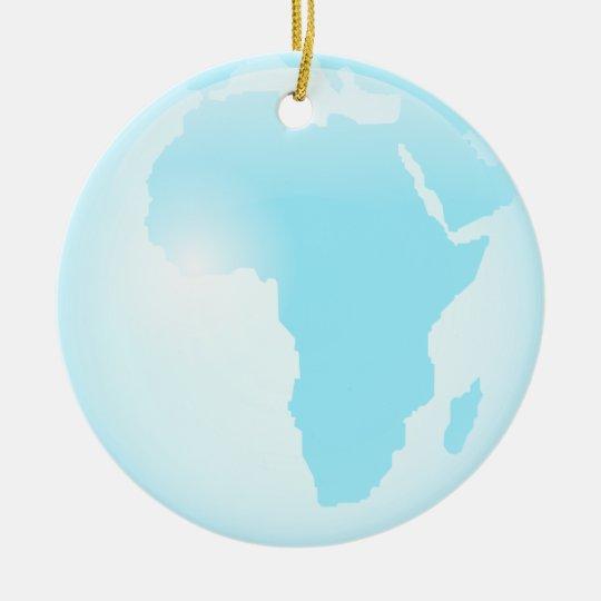 Africa Glass Globe Ceramic Ornament