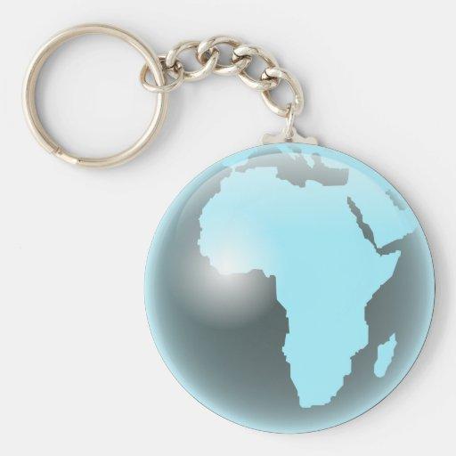 Africa Glass Globe Keychains