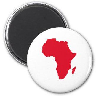Africa Heart 2 Inch Round Magnet