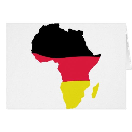 africa icon german flag card
