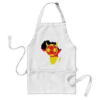 africa icon german soccer devil adult apron