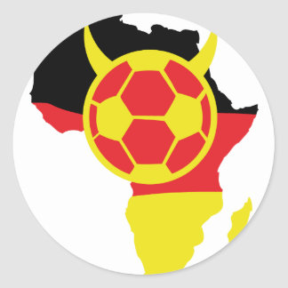africa icon german soccer devil classic round sticker