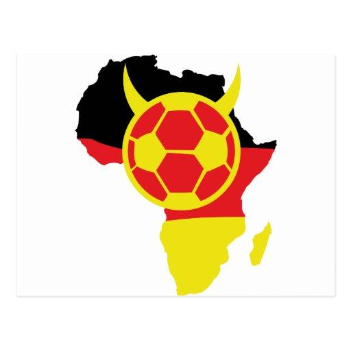 africa icon german soccer devil postcard