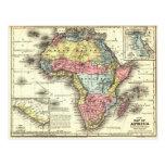 Africa in 1867 postcard