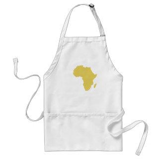 """""""Africa in Medium Gold"""" Adult Apron"""