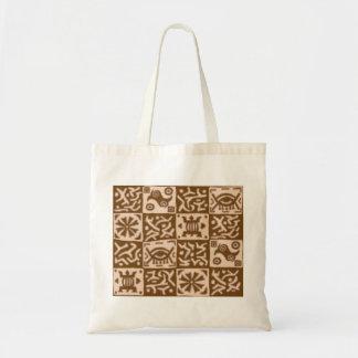 África inspiró los diseños - marrón bolsa lienzo