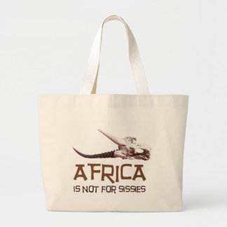 Africa is not for sissies: African Springbok skull Canvas Bags