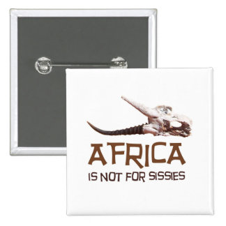 Africa is not for sissies: African Springbok skull Pins