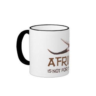 Africa is not for sissies: African Springbok skull Ringer Mug