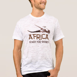 Africa is not for sissies: African Springbok skull T-Shirt