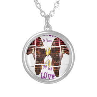 Africa is where I found Love Silver Plated Necklace