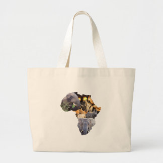 Africa is wild large tote bag