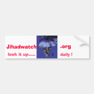 Africa, Jihadwatch, .org, look it up....., daily ! Car Bumper Sticker