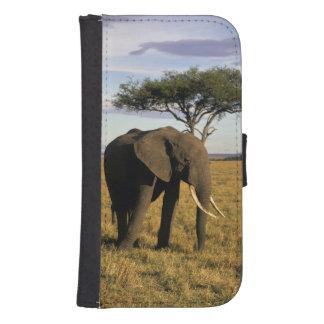 Africa, Kenya, Maasai Mara. An elehpant in the Galaxy S4 Wallets