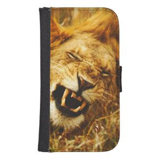 Africa, Kenya, Maasai Mara. Male lion. Wild Galaxy S4 Wallet Case