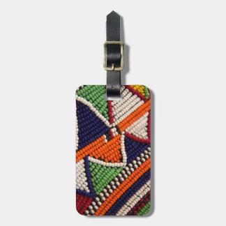 Africa, Kenya. Maasai Tribal Beads Bag Tag