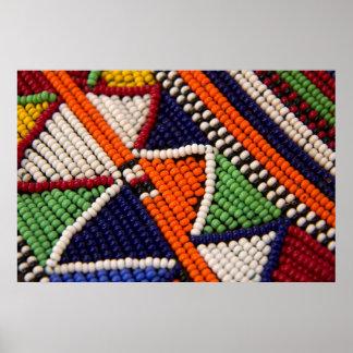 Africa, Kenya. Maasai Tribal Beads Poster
